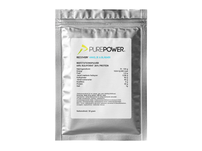 PurePower Recovery - Proteinholdig restitutionsdrik - Blåbær/vanilije - 50 gram