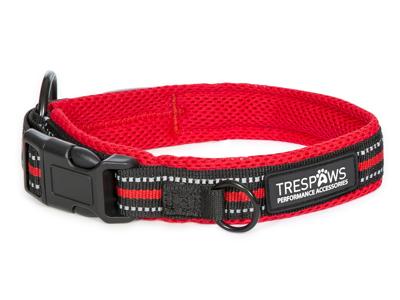 Trespaws Scooby - Hundehalsbånd polyester - Rød/Sort