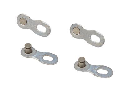 KMC Missing Link - samleled 2 sæt til 12 gears kæde Sølv