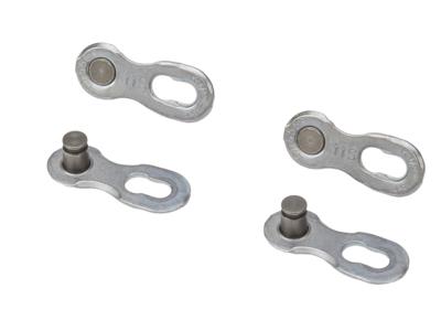 KMC Missing Link - samleled 2 sæt til 11 gears kæde Sølv