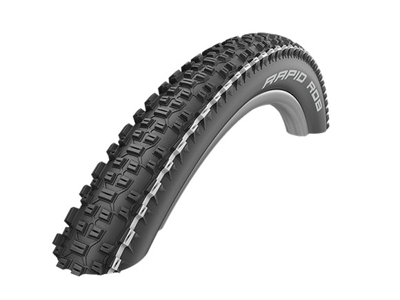 Schwalbe Rapid Rob - Kevlar-Guard Tråddæk - 27,5x2,25 (57-584) Sort/Hvid
