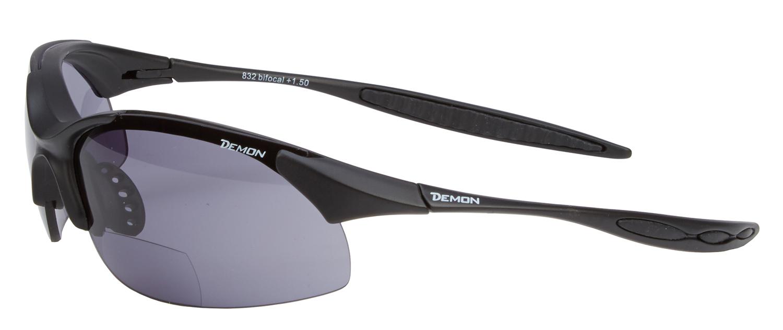 Demon 832 - Løbe- og cykelbrille med +1,50 læsefelt - sort   Glasses