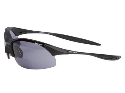 Demon 832 - Løbe- og cykelbrille med +1,50 læsefelt - sort