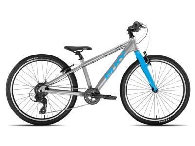 """Puky - S-Pro 24"""" Alu - Børnecykel - Sølv/Blå"""