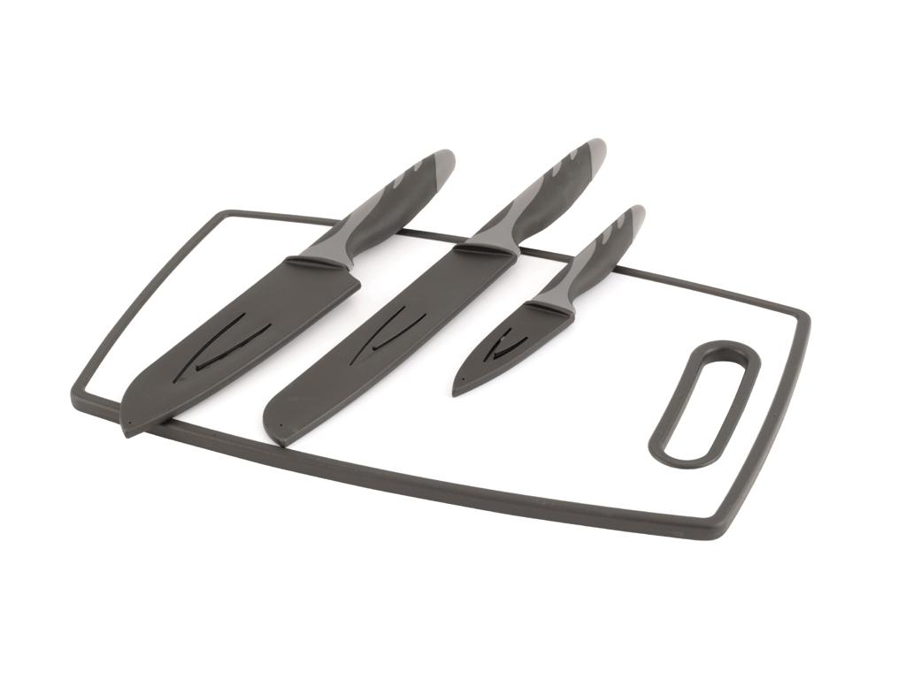 Image of   Outwell Caldas Set - Knivsæt & skærebrat - Sort/Hvid