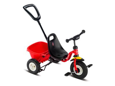Puky - Ceety Air - Trehjulet med lad og skubbestang - Rød