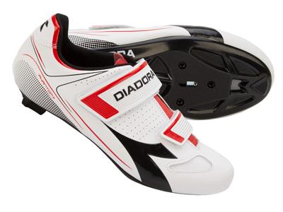 Diadora Phantom II - Cykelsko - Unisex - Hvid/Rød