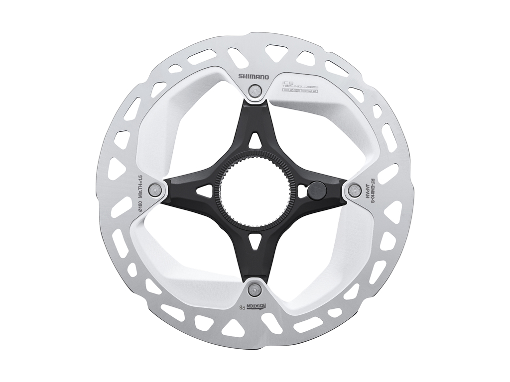 Image of   Shimano XT Rotor - Ice-Tech EM810-EXT - 160 mm med Ice-Tech Freeza - Til center lock