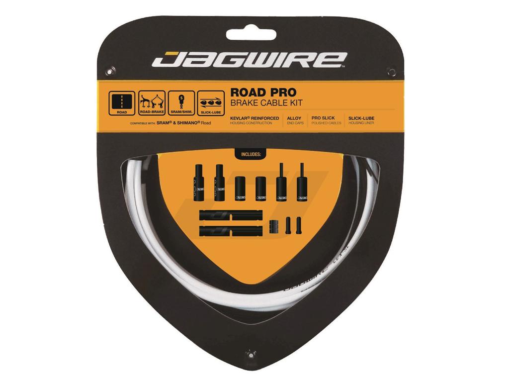 Image of   Jagwire - Road Pro - bremsekabel sæt til Road - Hvid