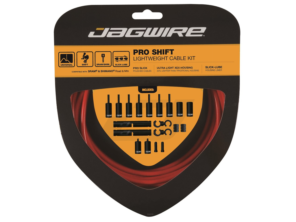 Image of   Jagwire - Pro Shift - 2x Gearkabel sæt - Road/MTB - Rød