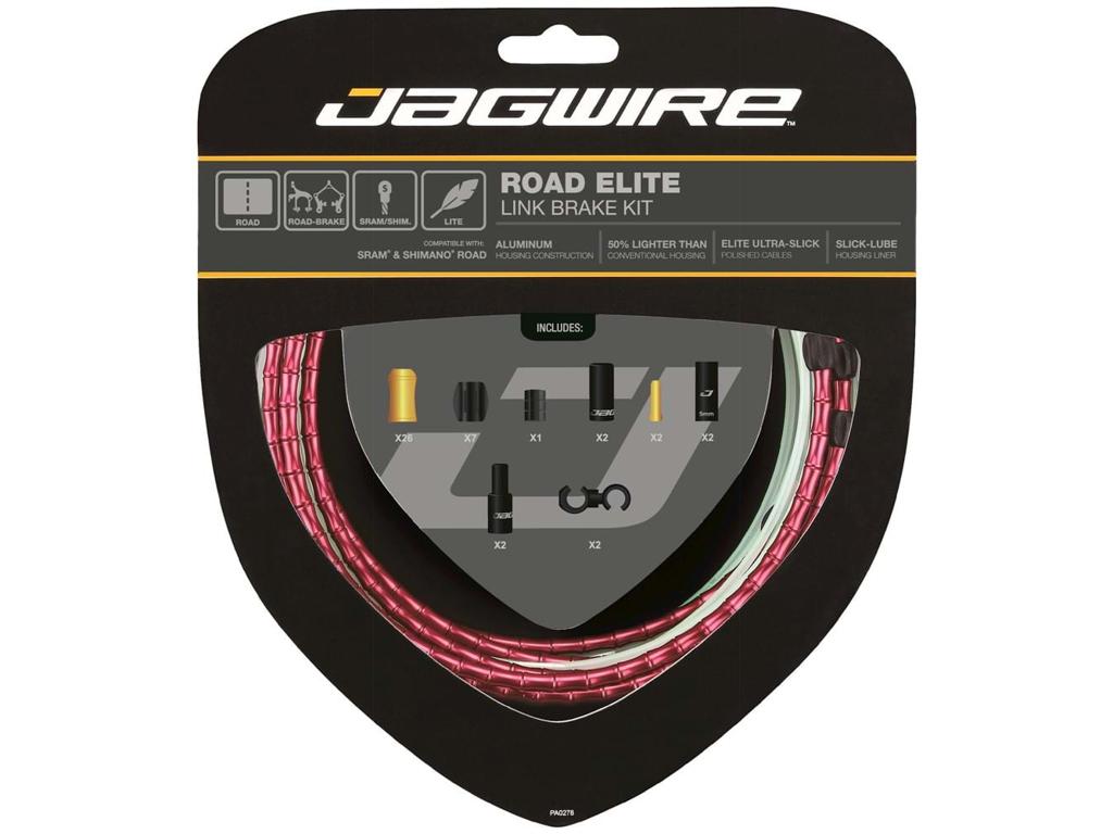 Image of   Jagwire - Road Elite - bremsekabel sæt til Road - Rød