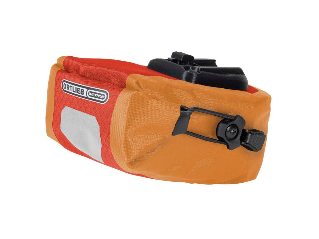 Ortlieb Micro Two - Sadeltaske - Signal rød/orange - 0,8 liter