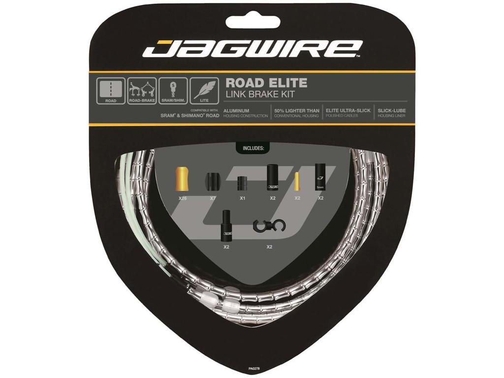 Image of   Jagwire - Road Elite - bremsekabel sæt til Road - Sølv