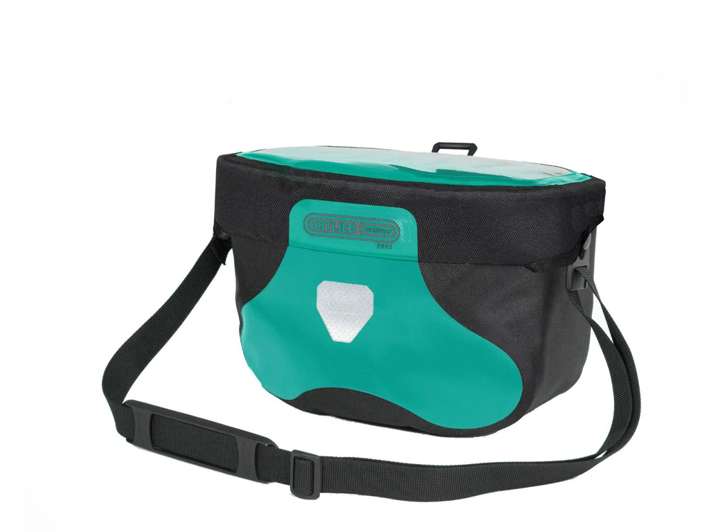 Ortlieb Ultimate Six Free - Styrtaske - 6,5 liter - Turkis / sort
