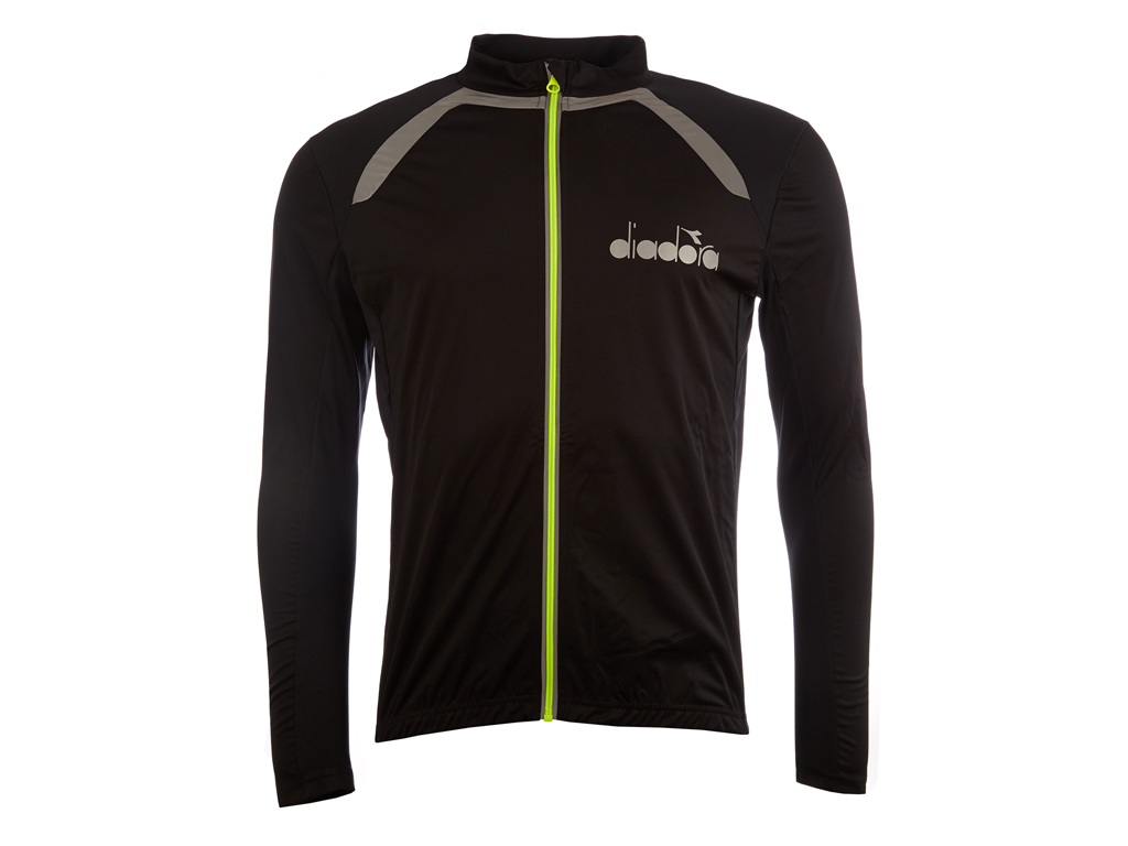 Image of   Diadora Cykeljakke - Pre season - Str. L - Sort/Gul