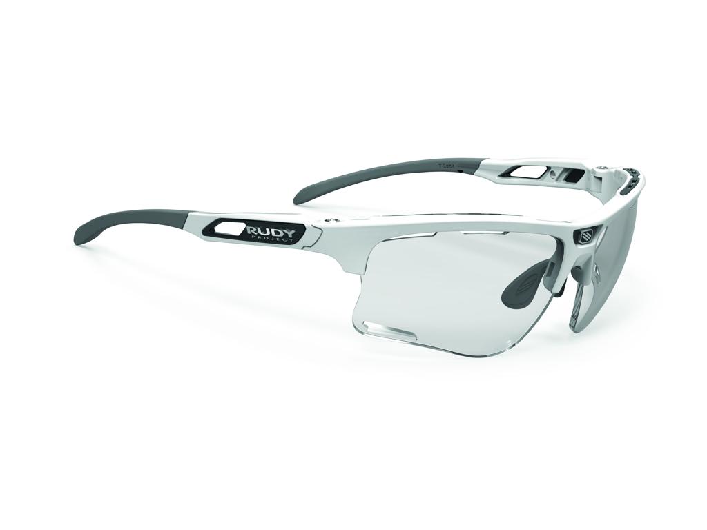 Image of   Rudy Project Keyblade - Løbe- og cykelbrille - Impact Photochrom rød laser linser - Hvid