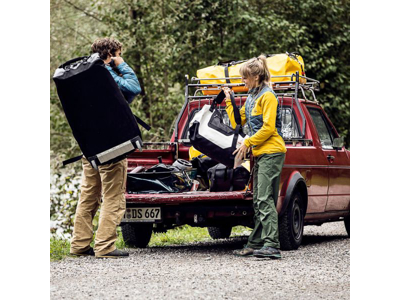 Ortlieb Duffle RS - Rejsetaske m. hjul - Gul/sort - 140 liter