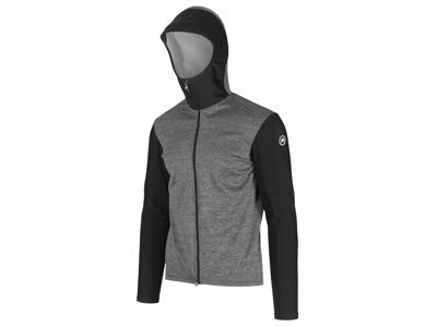 Assos Trail Spring/Fall Hooded Jacket - Cykeljakke - Grå/sort