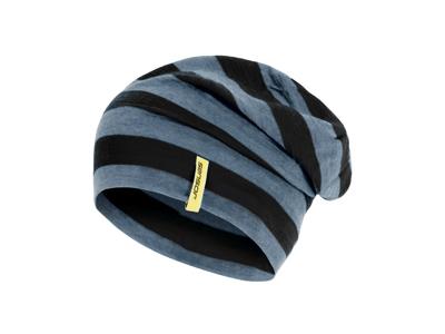 Sensor mössa - Merinoull - Svart/grå