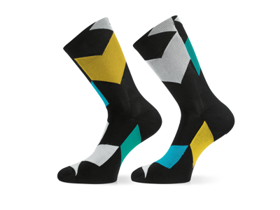 Assos Fastlane Rock Socks - Cykelstrømper - Multifarvet