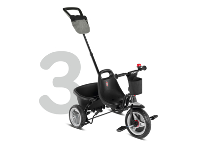 Puky - Ceety Comfort - Trehjulet med lad og skubbestang