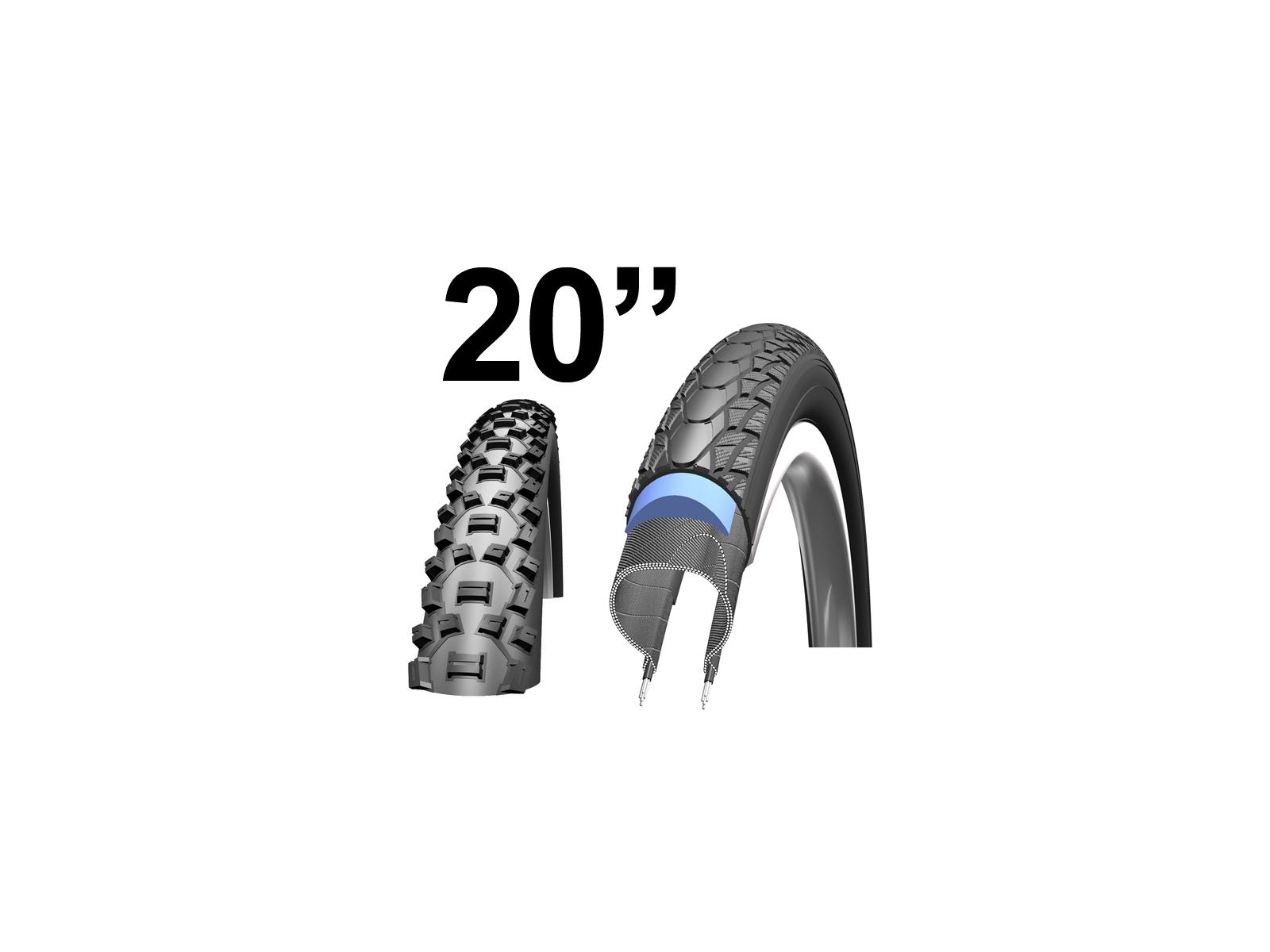 """Kanttrådsdæk til MTB cykler 20"""""""