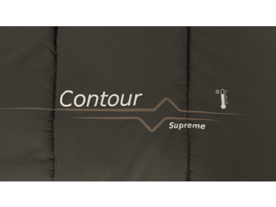 Outwell Contour Supreme - Sovepose - Aflynelig pude - Coffee