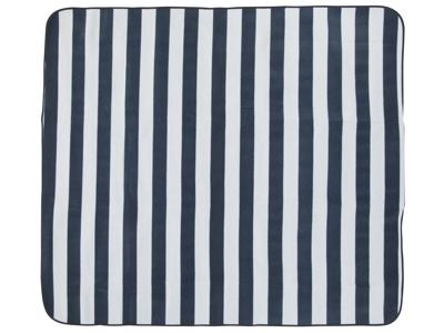 Trespass Throw - Picnic tæppe - Vandtæt bund - Blå stribet - 135 x 120 cm.
