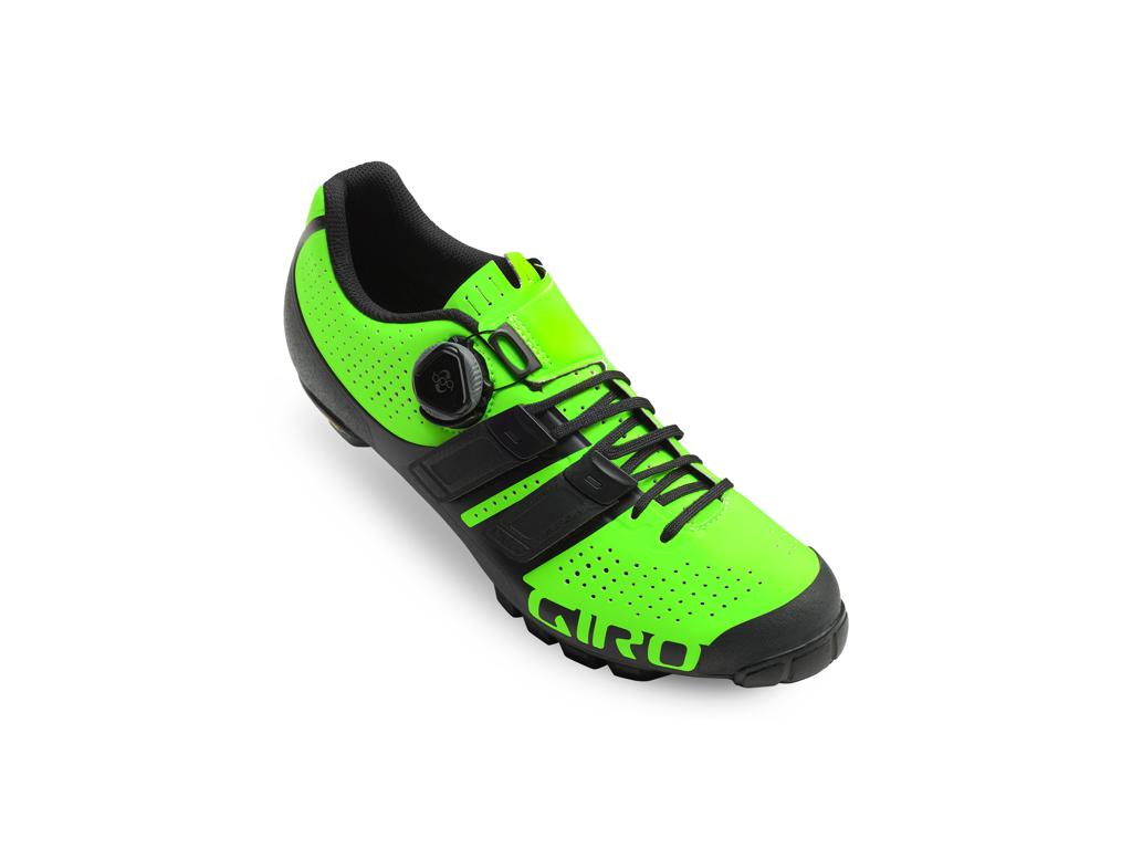 Giro Code Techlace - Cykelsko MTB - Lime/Sort