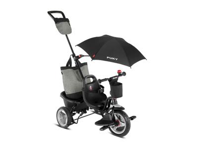 Puky - Ceety Comfort - Trehjulet med lad og skubbestang - Sort