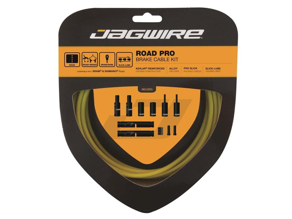 Image of   agwire - Road Pro - bremsekabel sæt til Road - Gul