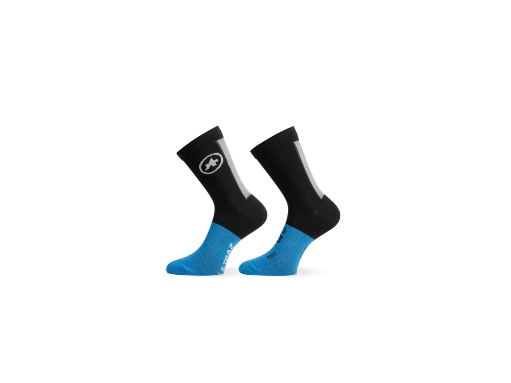 Image of   Assos Ultraz Winter Socks - Cykelstrømper - Sort/blå - Str. II