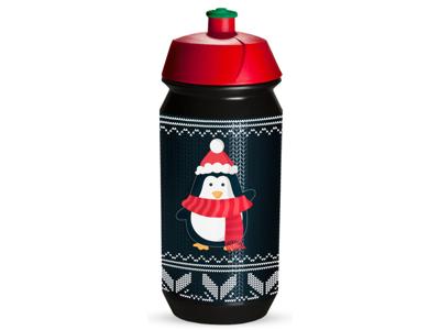 Tacx Shiva Christmas - Drikkeflaske - 500 ml - Sort/pingvin