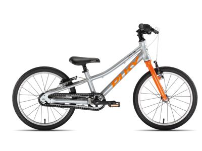 """Puky - S-Pro 18"""" Alu - Børnecykel - Sølv/Orange"""