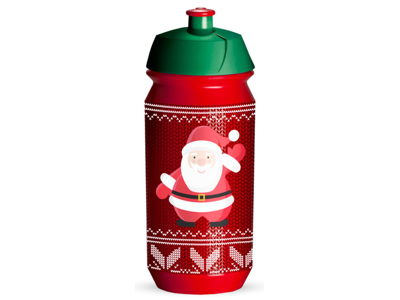 Tacx Shiva Christmas - Drikkeflaske - 500 ml - Rød/Julemand