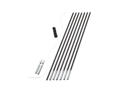Easy Camp Pole Diy Set - Fiberstænger 11 mm - Sort