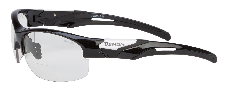 Demon Tour - Løbe- og cykelbrille med +2,00 læsefelt - Fotokromisk linse - Sort   Glasses