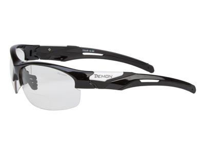 Demon Tour - Løbe- og cykelbrille med +2,00 læsefelt - Fotokromisk linse - Sort