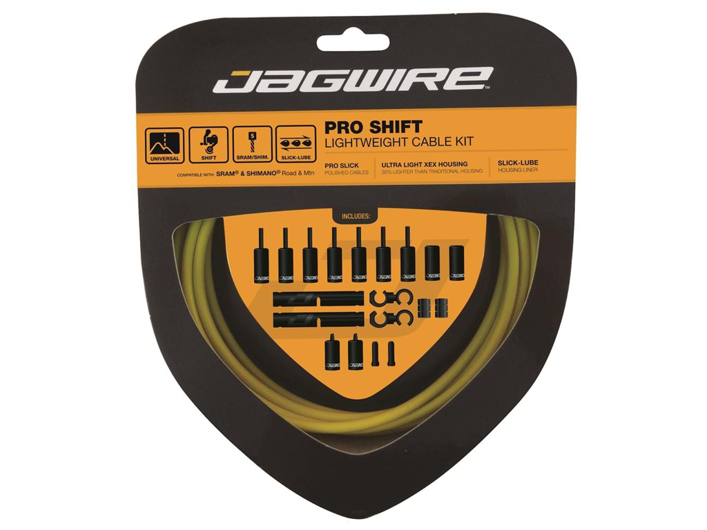 Image of   Jagwire - Pro Shift - 2x Gearkabel sæt - Road/MTB - Gul
