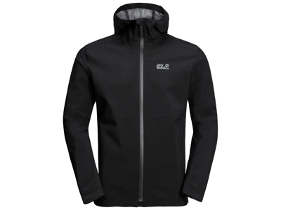 Jack Wolfskin Skaljakke - Hr. - Sort - 100% Recycling