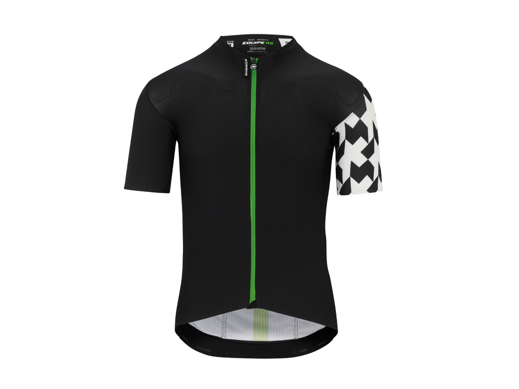 Image of   Assos Equipe RS Aero SS Jersey - Cykeltrøje - Sort/grøn - Str. XLG