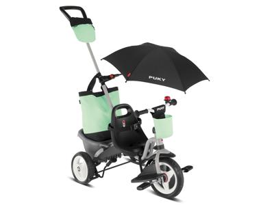 Puky - Ceety Comfort - Trehjulet med lad og skubbestang - Grå