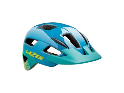Lazer Gekko - Cykelhjelm junior - Str. 50-56 cm - Blå gul