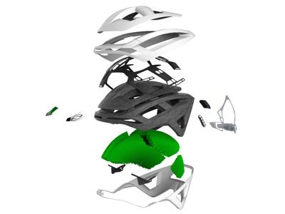Smith Overtake - Cykelhjälm - Grön och grå