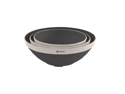 Outwell Collaps Bowl Set - Foldbar skål - Sort