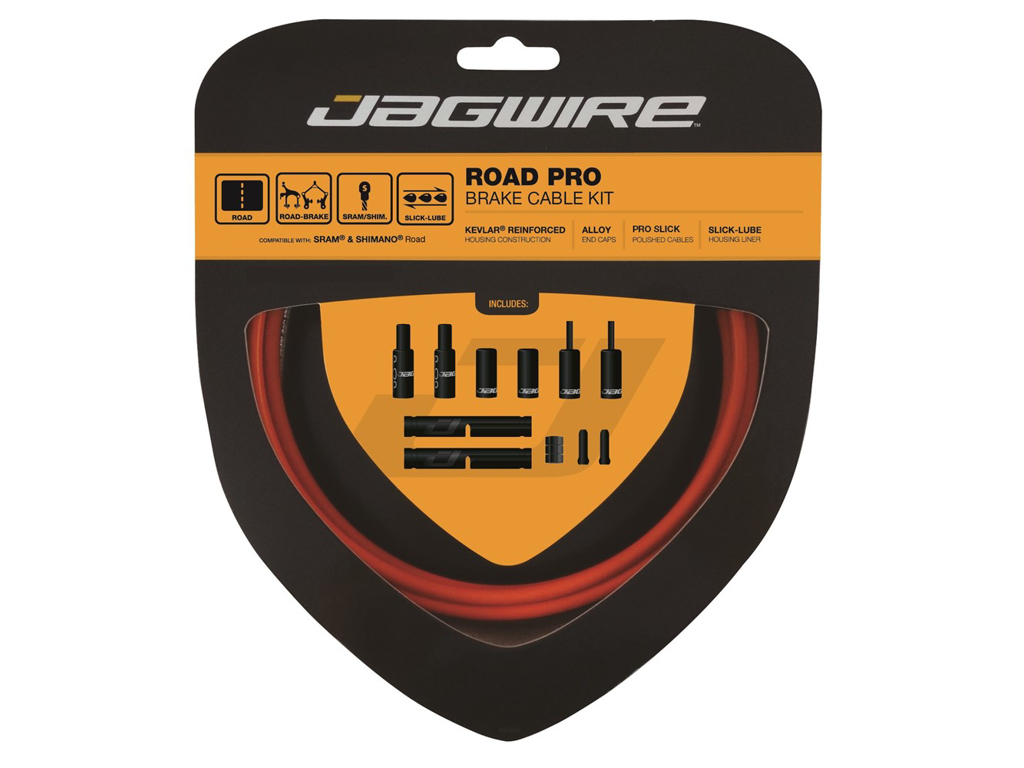 Image of   Jagwire - Road Pro - bremsekabel sæt til Road - Orange