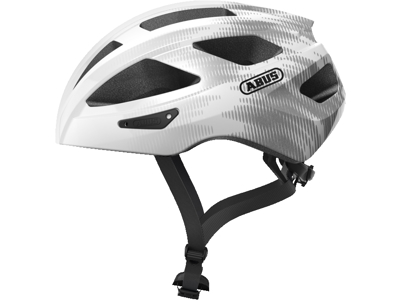 Abus Macator - Cykelhjelm - Hvid/sølv