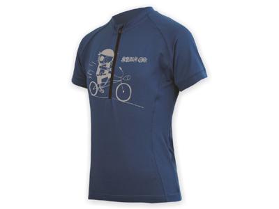 Sensor Entry Jersey - Cykeltrøje med korte ærmer til børn - Blå