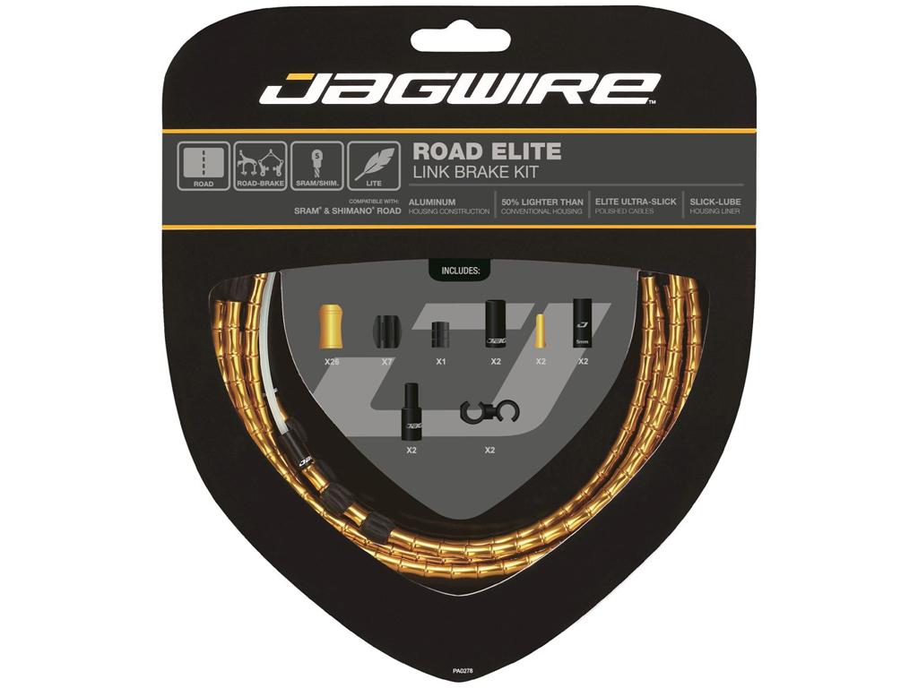 Image of   Jagwire - Road Elite - bremsekabel sæt til Road - Guld