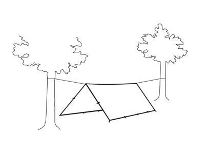 Robens Tarp 3 X 3 - Trail Tarp - Grøn